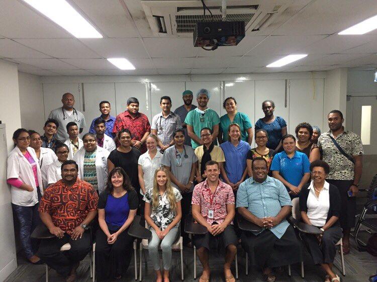 Anaesthetics department in Fiji